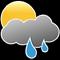 Ciel nuageux avec pluies modérées