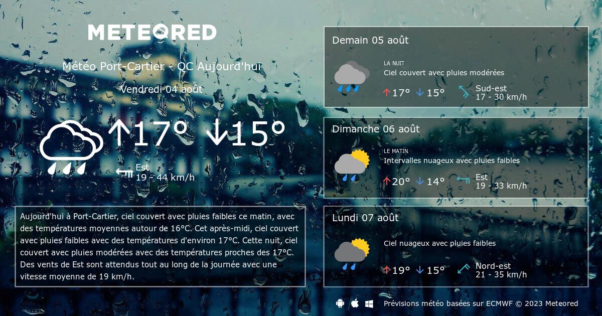 M t o port cartier qc 14 jours - Port barcares meteo 7 jours ...