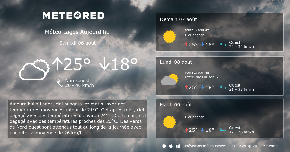 M t o lagos 14 jours - Meteo port barcares 14 jours ...