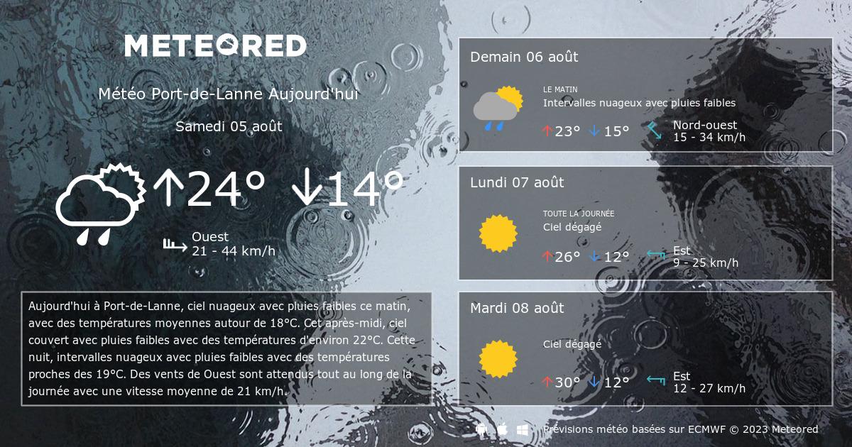 M t o port de lanne 14 jours - Port barcares meteo 7 jours ...
