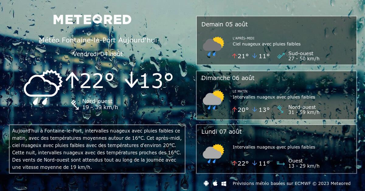 M t o fontaine le port 14 jours - Port barcares meteo 7 jours ...