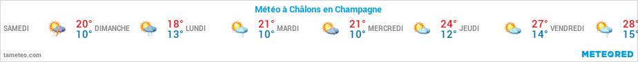 Météo de la semaine à Châlons en Champagne