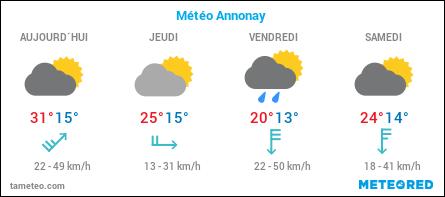 Météo à Annonay en Ardèche